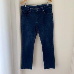 "Levi's Womens Denim Blue Straight Jeans Zip Fly W 32"" L 28"" Pre Owned EC"